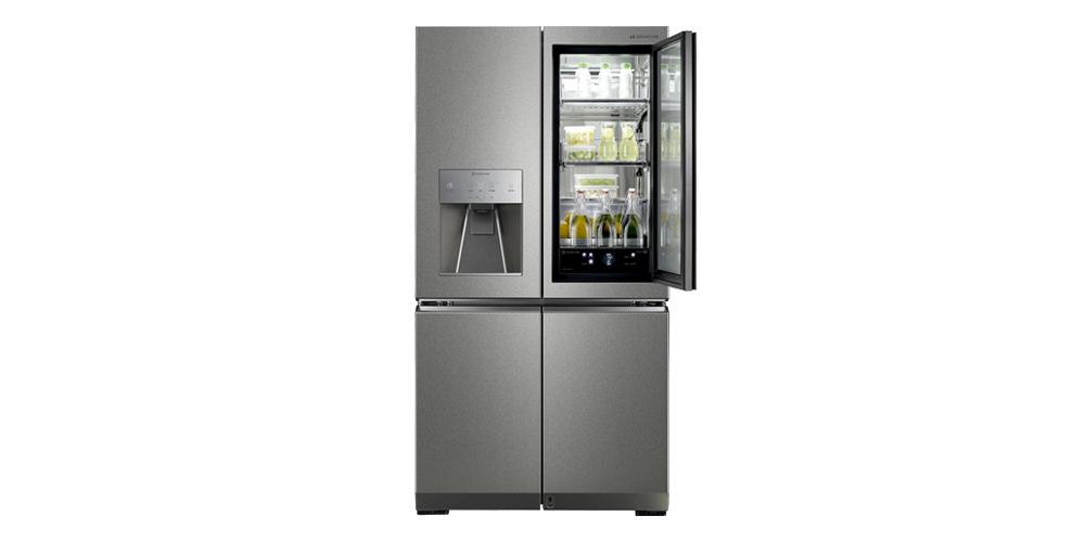 Gõ vào không gian ma thuật nơi bạn có thể nhìn thấy bên trong tủ lạnh khi bạn gõ lg J842ND79